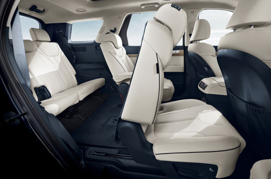 Smart one-touch second-row folding and sliding seats
